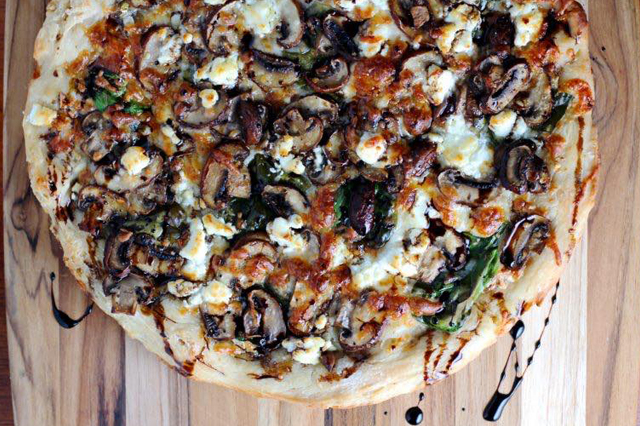 Balsamic Mushroom Pizza with Goat Cheese