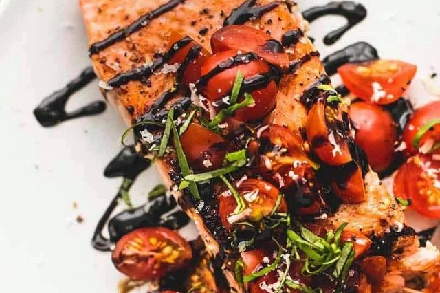 Honey Balsamic Bruschetta Salmon